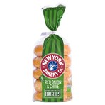 New York Bakery Co. 5 Red Onion & Chive Bagels