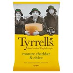 Tyrrells Mature Cheddar & Chive Sharing Crisps 150g