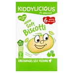 Kiddylicious Biscotti, Apple, Baby Snack, 7 Months+, Multipack, 6 x 20g