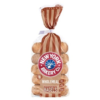 New York Bakery Co. 5 Wholemeal Bagels