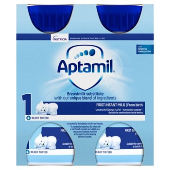 Aptamil 1 First Baby Milk Formula Multipack from Birth 4 x 200ml