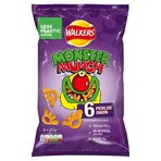 Walkers Monster Munch Pickled Onion Multipack Snacks 6x22g