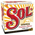 Sol Original Lager Beer 12 x 330ml Bottles