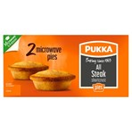 Pukka 2 All Steak Shortcrust Microwave Pies