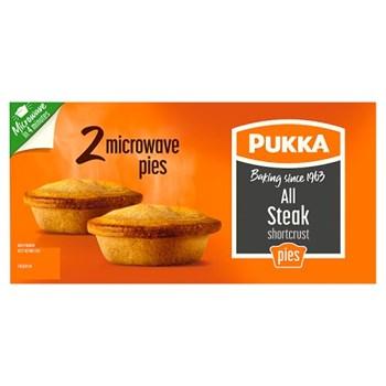 Pukka 2 All Steak Shortcrust Microwave Pies