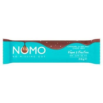NOMO Vegan & Free From Caramel & Sea Salt Choc Bar 38g