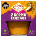 Patak's The Original Korma Paste Pots 2 x 70g