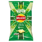Walkers Salt & Vinegar Multipack Crisps 6x25g
