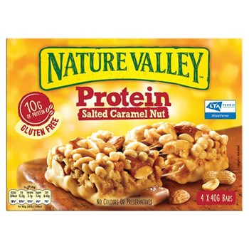 Nature Valley Protein Salted Caramel Nut Cereal Bars 4 x 40g