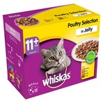 Whiskas Senior 11+ Wet Cat Food Pouches Poultry in Jelly 12 x 100g