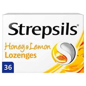 Strepsils Honey & Lemon Lozenges 36 Lozenges
