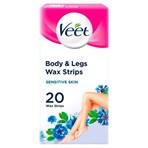 Veet Body Wax Strips for Sensitive Skin 20 Double Sided Strips 40 Pack