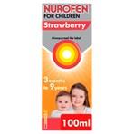 Nurofen for Children Strawberry 100mg/5ml Oral Suspension 3 Months to 9 Years 100ml