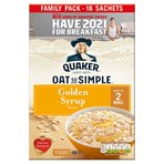Quaker Oat So Simple Golden Syrup Porridge Sachets 18x36g