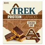 TREK Cocoa Oat Protein Flapjacks Chocolate Flavour Topped 3 x 50g
