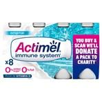 Actimel No Added Sugar 0% Fat Original Yogurt Drink 8 x 100g (800g)