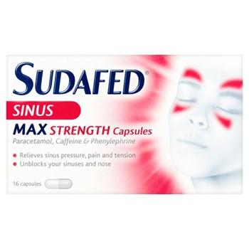 Sudafed® Sinus Max Strength Capsules 16 Capsules