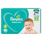 Pampers Baby-Dry Size 4, 44 Nappies, 9-14kg, Essential Pack