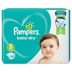 Pampers Baby-Dry Size 5, 39 Nappies, 11-16kg, Essential Pack