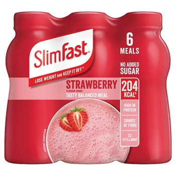 SlimFast Strawberry Flavour Shake 6 x 325ml (1.95L)