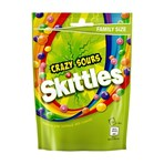Skittles Crazy Sours Sweets Family Size Pouch Bag 196g