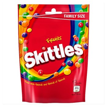 Skittles Fruits Sweets Family Size Pouch Bag 196g