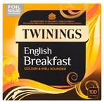 Twinings English Breakfast 100 Tea Bags 250g