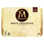Magnum White Chocolate Ice Cream 4 x 110 ml