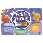 Petits Filous Strawberry and Apricot Fromage Frais 6 x 47g