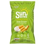 Sunbites Sour Cream & Cracked Black Pepper Multipack Snacks 6x25g