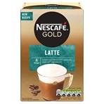 Nescafe Gold Latte Instant Coffee 8x 15.5g Sachets
