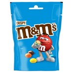 M&M's Crispy Chocolate Pouch Bag 107g