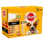 Pedigree Adult Wet Dog Food Pouches Mixed Selection in Gravy 12 x 100g