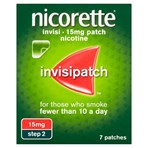 Nicorette® Step 2 Invisi 15mg Patch Nicotine 7 Patches (Stop Smoking Aid)