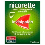 Nicorette® Step 1 Invisi 25mg Patch Nicotine 7 Patches (Stop Smoking Aid)