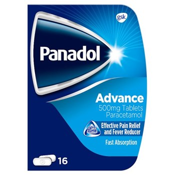Panadol Advance Pain Relief Tablets, 500 mg Paracetamol Tablets, Pack of 16