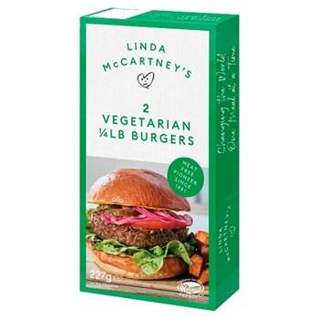 Linda McCartney's 2 Vegetarian 1/4 lb Burgers 227g