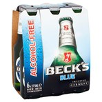 Beck's Blue Alcohol Free Beer Bottles 6 x 275ml