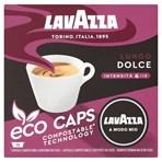 Lavazza A Modo Mio Eco Caps Compostable Lungo Dolce Coffee Capsules x 16