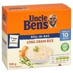 Uncle Ben's Boil-in-Bag Long Grain Rice 8 x 62.5g (500g)