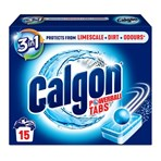 Calgon 3-in-1 Washing Machine Water Softener, 15 Tablets