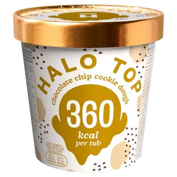 Halo Top Chocolate Chip Cookie Dough Ice Cream 473ml