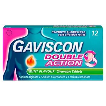 Gaviscon Double Action 12 Mint Flavour Chewable Tablets
