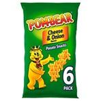 Pom-Bear Cheese & Onion Multipack Crisps 6 Pack