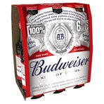 Budweiser Lager Beer Bottles 6 x 300ml