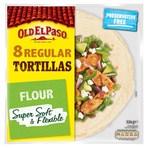 Old El Paso 8 Regular Flour Tortillas 326g
