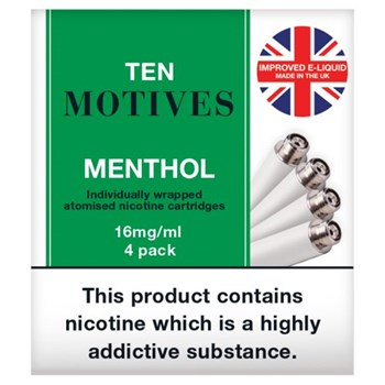Ten Motives Electronic Cigarette Menthol Refill x4
