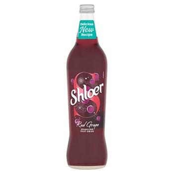 Shloer Red Grape Sparkling Fruit Drink 750ml