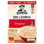 Quaker Oat So Simple Original Family Pack Porridge Sachets 20x27g