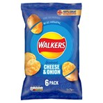 Walkers Cheese & Onion Multipack Crisps 6x25g